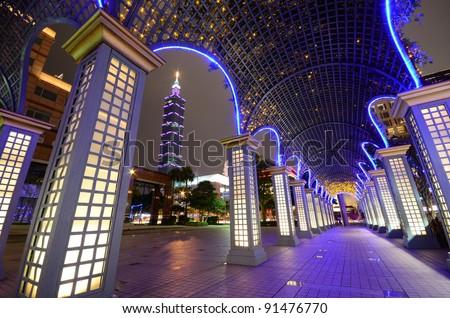 Taipei 101 Night scene - stock photo