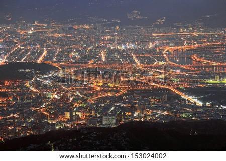 Taipei Panoramic - stock photo