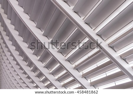 TAIPEI, TAIWAN - April 30, 2016 : Taoyuan International Airport Modern Architecture construction details. - stock photo