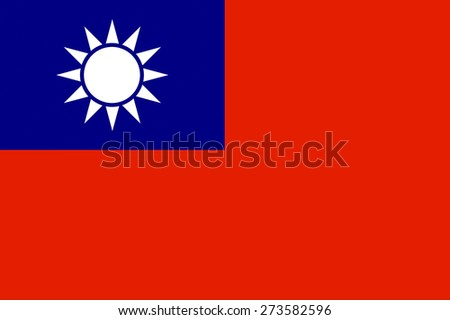 taiwan country flag china independent region symbol - stock photo