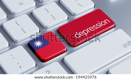 Taiwan High Resolution Depression Concept - stock photo