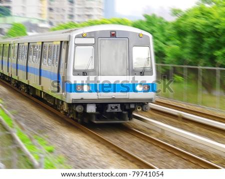 Taiwan mass rapid transit - stock photo