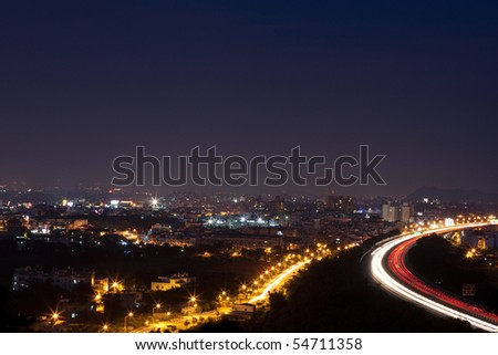 Taiwan's night and the highway - stock photo
