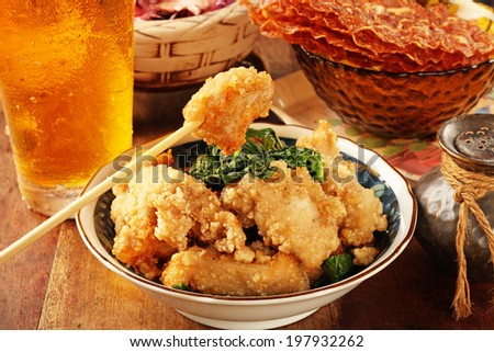 Taiwanese fried chicken - stock photo