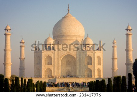 Taj mahal , A famous historical monument  - stock photo