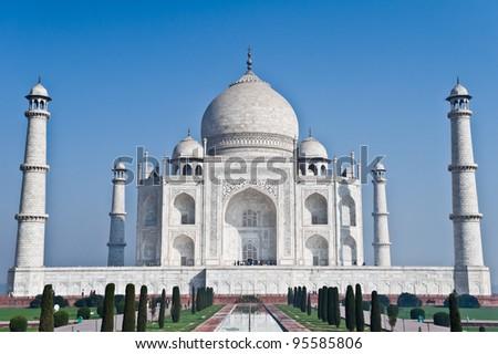 Taj Mahal in Agra, India - stock photo