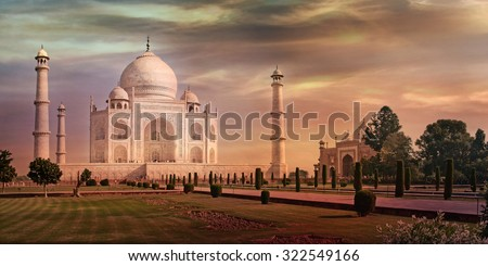 Taj Mahal in Agra, Uttar Pradesh, India