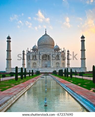 Taj Mahal in India - stock photo