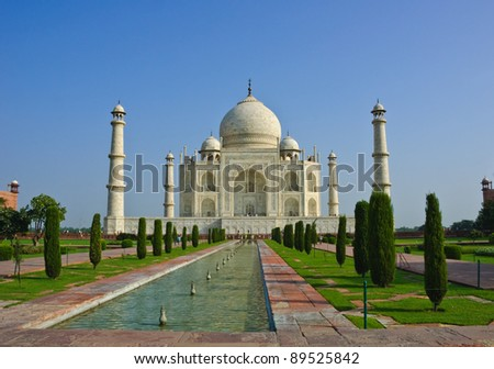 Taj Mahal in low angle view, India