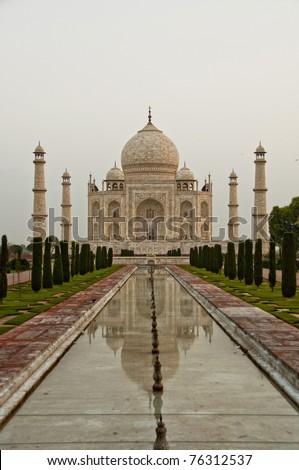 Taj Mahal in the morning - stock photo