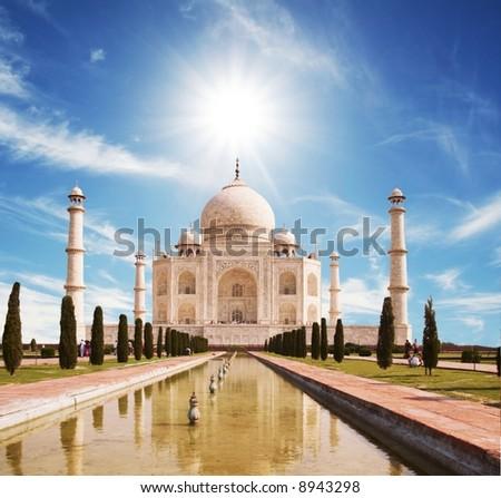 Taj Mahal palace - stock photo