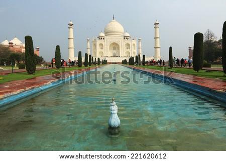 Taj Mahal Temple, Agra, India - stock photo