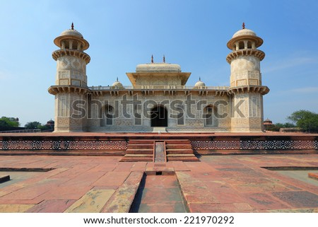 Taj Mahal Temple, small,  Agra - stock photo