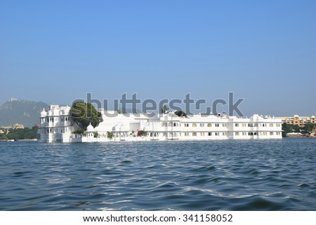 Taj Palace Udaipur - stock photo