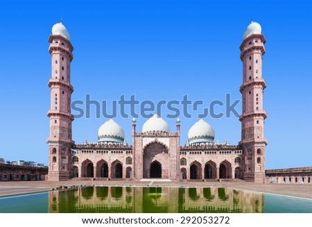 Taj Ul Masajid is a mosque situated in Bhopal, India - stock photo