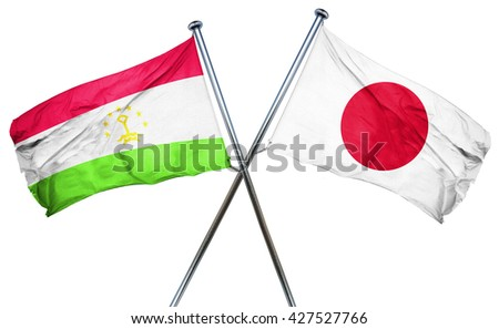 Tajikistan flag  combined with japan flag