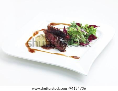 Tajima wiagyu beef steak a great taste european food - stock photo