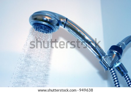 Take a shower - stock photo