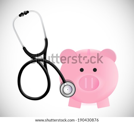 take care of your business savings concept illustration design over a white background - stock photo