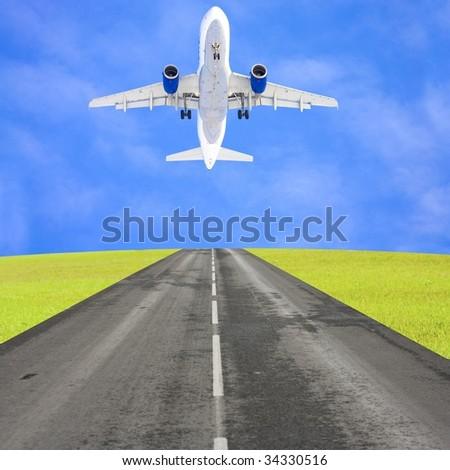 Take off - stock photo