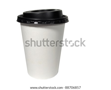 take out coffee cup - stock photo