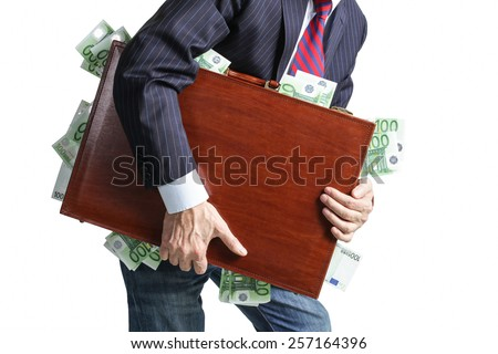 Take the money and run  - stock photo