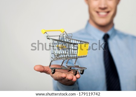 Take your business to e-commerce level. - stock photo
