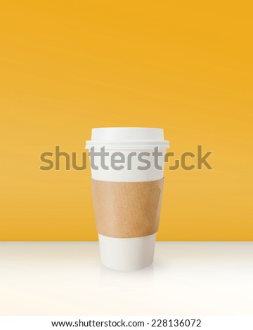 Takeaway coffee cup. - stock photo
