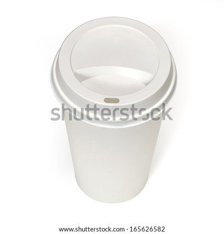 Takeaway filter coffee cup including clipping path - stock photo