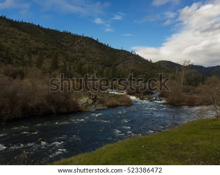 Takelma Falls on Rogue River in Gold Hill,  Oregon,