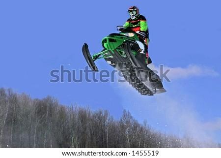 taken at elliot lake snowmobile races - stock photo
