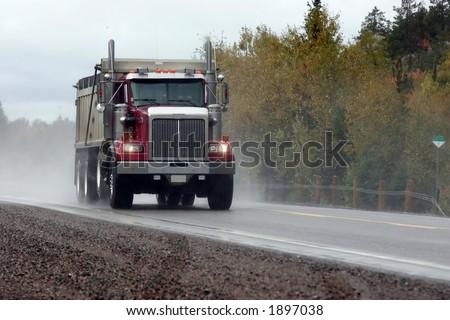 taken on highway seventeen west - stock photo