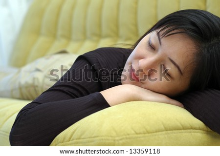 Taking a nap - stock photo