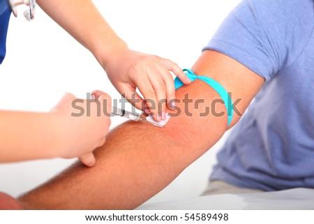 Taking blood - stock photo