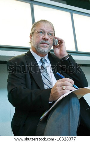 Taking notes - stock photo