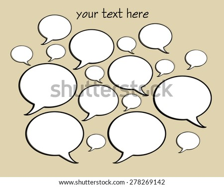 Talk Bubbles - stock photo