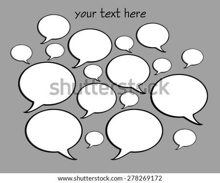 Talk Bubbles - stock photo