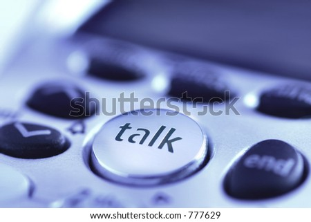 Talk: illustrates communications in business & personal lives, communication, technology. - stock photo