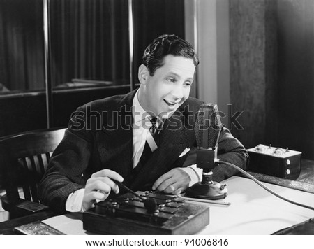TALK RADIO - stock photo
