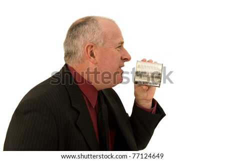 Talking loud - stock photo