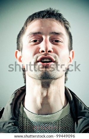 talking man - stock photo