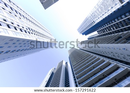 Tall building modern building - stock photo
