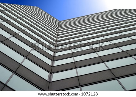Tall business building - stock photo