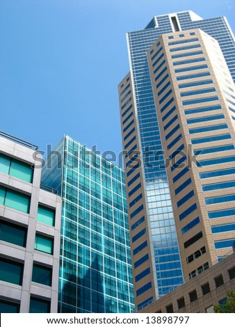 Tall city buildings - stock photo
