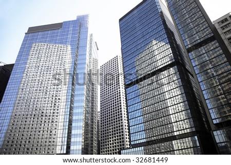 Tall High Rise Urban Office Building In Hong Kong, China - stock photo