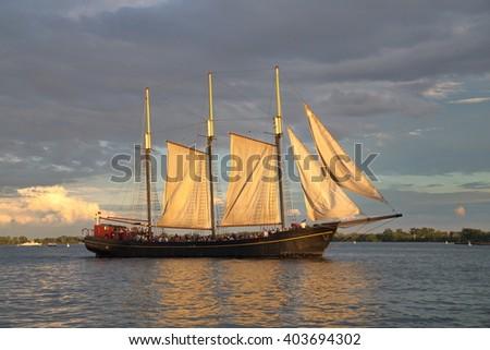 Tall Ship - stock photo