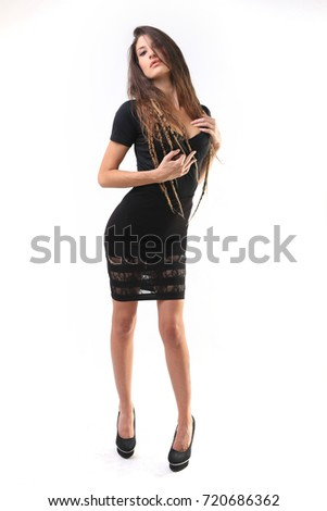 Tall Slim elegant erotic business woman