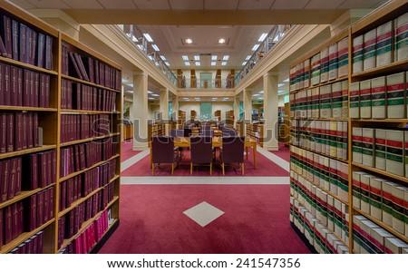 TALLAHASSEE, FLORIDA - DECEMBER 5: Florida Supreme Court library on December 5, 2014 in Tallahassee, Florida - stock photo