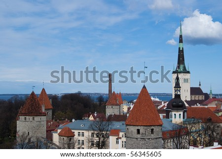 Tallinn capital of Estonia, old city view