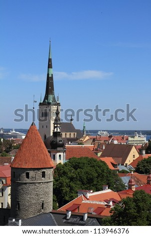 Tallinn. Old city - stock photo